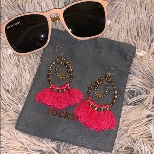 Jewelry - Hot pink Tassel earrings